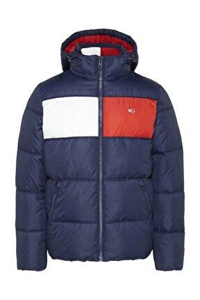 Erkek Mavi Ceket Tjm Colorblock Padded Jacket DM0DM09375