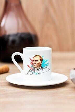 Atatürk Portresi Baskılı Kahve Fincanı
