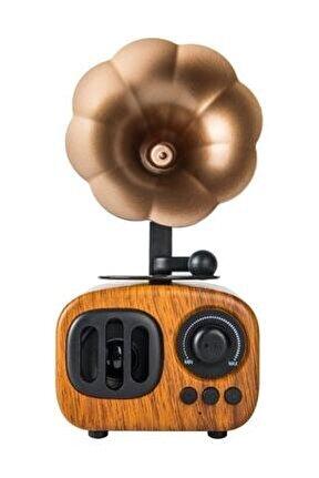 Nostaljik Gramafon Radyo B7 - Bluetooth - Radyo - Aux - Sd - Usb