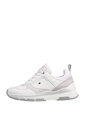 Kadın Beyaz Sneaker Sporty Chunky Deri Sneaker FW0FW05287