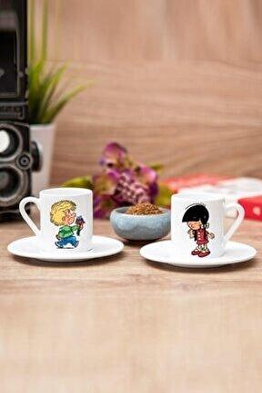 Cedric Ve Chen Sevgili 2li Set Beyaz Kahve Fincanı
