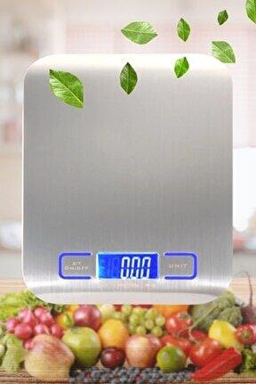 Tf 1002 Hassas Ölçümlü Maksimum 5 Kg Kapasiteli Led Ekran Platin Dijital Mutfak Tartısı