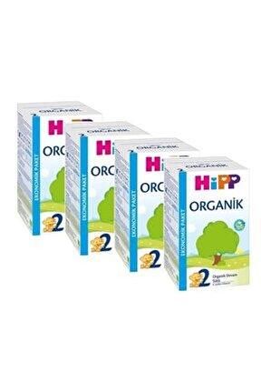 2 Organik Devam Sütü 600 Gr 4'lü Paket