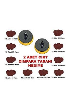 Cırt Zımpara Seti 115 Mm 40-320 Kum Cırt Zımpara 152 Parça