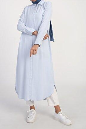 Kadın Buz Mavisi 51461 Uzun Gömlek Tunik