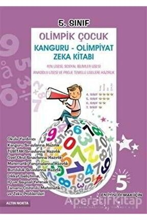 5. Sınıf Olimpik Çocuk Kanguru - Olimpiyat Zeka Kitabı Tamamı Çözümlü