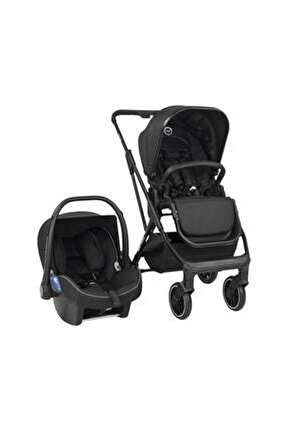 Siyah Carbon Black Flexfold Travel Sistem Bebek Arabası