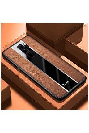 Xiaomi Redmi Note 8 Pro Uyumlu Kahverengi Premium Deri Telefon Kılıfı