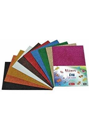 Eva Simli Yapışkanlı (2 Mm) 20x30 Cm 10 Adet 10 Renk