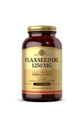 Flaxseed Oil 1250 Mg 100 Tablet