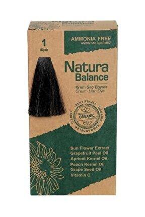 Organik Krem Saç Boyası 1 Siyah 60 ml