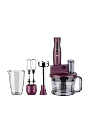 Mr Chef Quadro 1000W Rende ve Blender Seti (Violet)