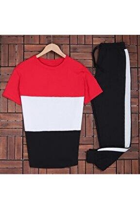 Erkek T-shirt Beyaz Eşofman Es666
