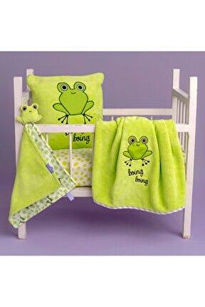Çaça Kurbağa Uyku Arkadaşı,battaniye Ve Yastık Takımı
