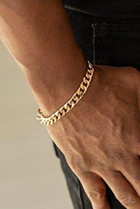 Erkek Altın Kaplama Zincir Çelik Bileklik
