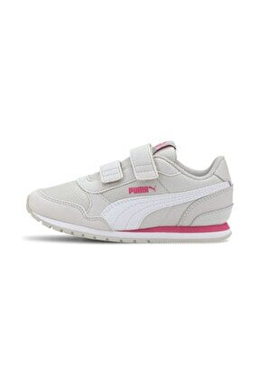 ST RUNNER V2 MESH V PS Gri Kız Çocuk Sneaker Ayakkabı 101119226
