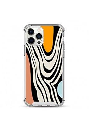 - apple iphone 12 Pro Max darbe koruyuculu damla baskı silikon kılıf