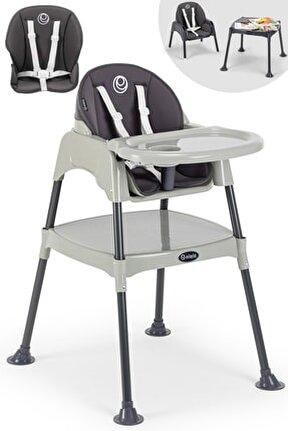 Çalışma Masalı Mama Sandalyesi Gri-antresit