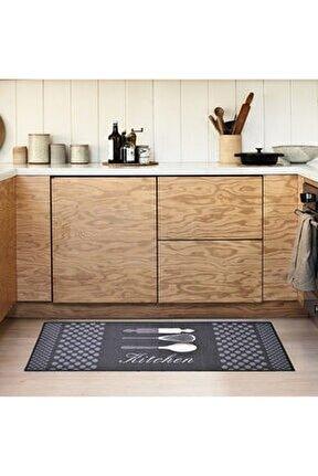 Giz Home Kitchen Mutfak Halısı (ANTRASİT) - 50x125 Cm