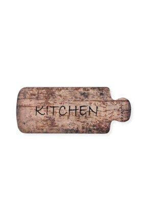 Giz Home Kitchen Wood Mutfak Halısı (KAHVERENGİ) - 50x125 Cm