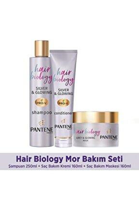 Hair Biology Turunculaşma Karşıtı Mor Şampuan Seti, Sarı Saçlar Için