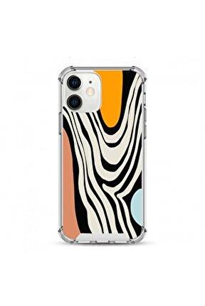 Iphone 12 Uyumlu Darbe Koruyuculu Damla Baskı Silikon Kılıf
