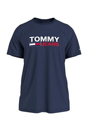 Erkek Mavi T-Shirt Tjm Corp Logo Tee DM0DM10214C87
