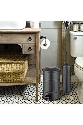 Banyo Çöp Kovası 5 Litre - Siyah