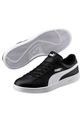 SMASH V2 L Siyah BEYAZ Unisex Deri Sneaker 100323982