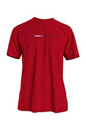 Erkek Kırmızı T-Shirt Tjm Lınear Logo Tee DM0DM10219XNL