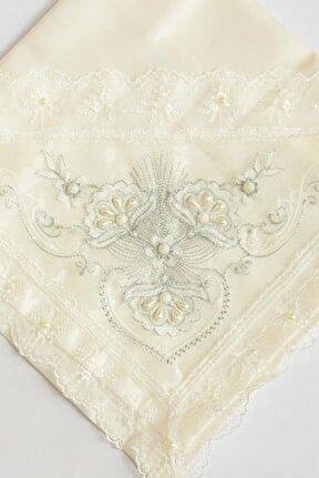 Fransız Dantel Taş Süslemeli Monalisa Çeyiz Bohçası Silver - Karışık Çok Renkli