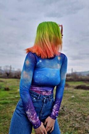 Kadın Galaxy Tül Bluz