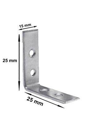 Mobilya Dolap Köşe Bağlantı Sabitleme L Demir Gönye 25x25x15 mm