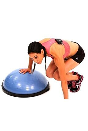Bosu Ball Pilates Denge Aleti Topu Mavi Csf209m