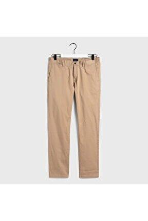 Erkek Slim Fit Bej Slim Fit Chino Pantolon 1500011