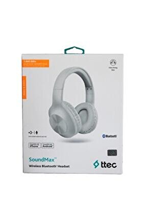 Soundmax Kablosuz Kulak Üstü Bluetooth Kulaklık - Beyaz