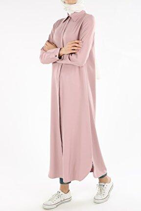Kadın Ortanca Uzun Gömlek Tunik