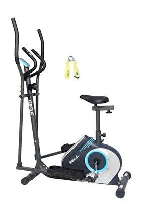 910EO Nabız Ölçerli Oturaklı Manyetik Eliptik Bisikleti + Sayaçlı el yayı