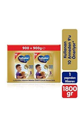Gold 3 Devam Sütü 1800 gr (900 gr + 900 gr) 1 Yaşından İtibaren