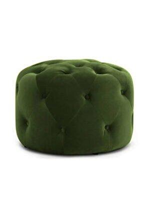Oval Puf Yeşil