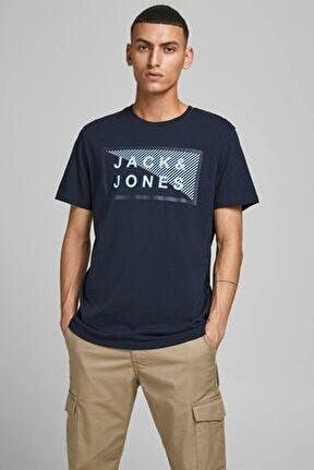 JCOSHAWN TEE SS CREW NECK Lacivert Erkek T-Shirt 101069312