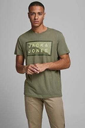 JCOSHAWN TEE SS CREW NECK Haki Erkek T-Shirt 101069310