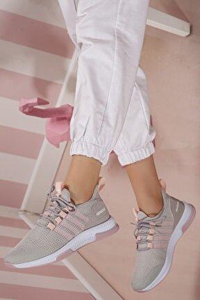 Kadın Pudra Günlük Ortopedik Sneaker D053