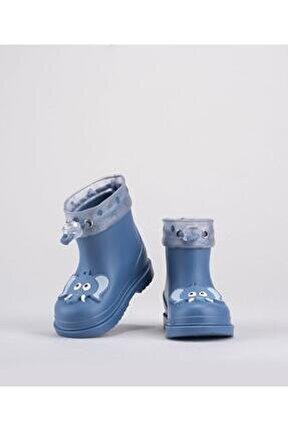 Unisex Çocuk Mavi  W10242-047 Bimbi Elefante Yağmur Çizmesi