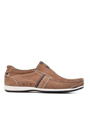 Erkek  Kum Nubuk Hakiki Deri Casual Ayakkabı