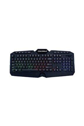 Usb Kablolu Led Işıklı Bilek Destekli Multimedya Gaming Oyuncu Klavyesi Pg-963