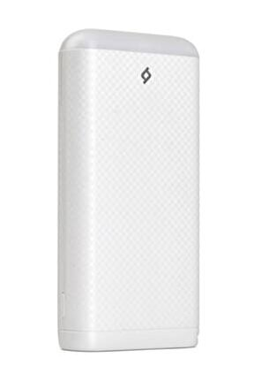 2bb121b S20000 20.000mah Led Işıklı Taşınabilir Şarj Aleti / Powerbank Beyaz