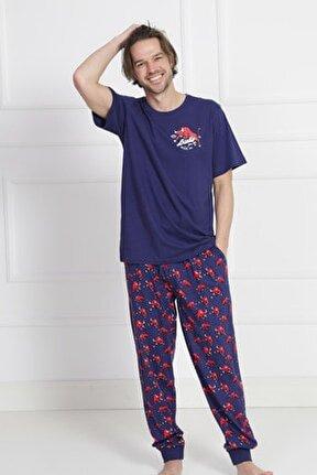 Pamuklu Erkek Kısa Kol Pijama Takım