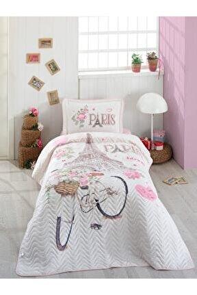 Valetta Home Ranforce Tek Kişilik Yatak Örtüsü Takımı Paris Love