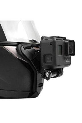 Tüm Aksiyon Kameralara Uyumlu Kask Bağlantı Kayışı Siyah